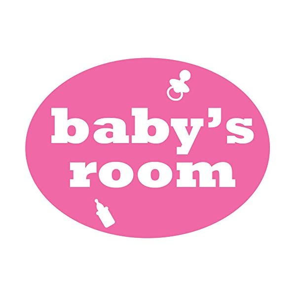 Nursery Decorations for Girl Sticker, Removable Nursery Door Decal, Baby Shower Gift