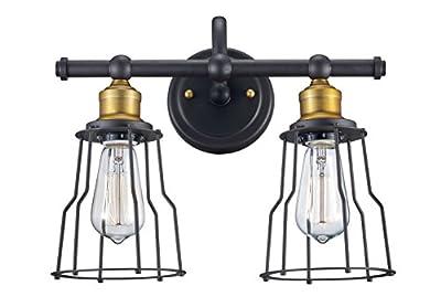 "Trans Globe Lighting 70812 ROB Constitution Indoor Rubbed Oil Bronze Industrial Vanity Bar, 14"""