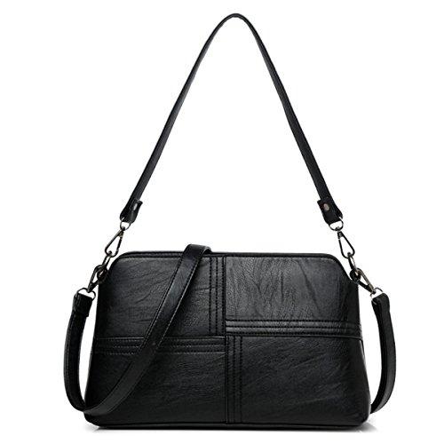 Messenger Bag fashion wild Umhängetasche kleine quadratische Tasche, grau Schwarz