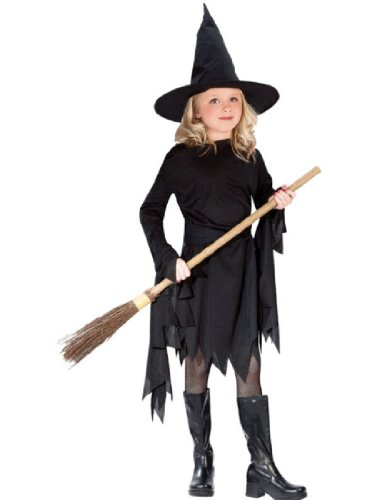 Princess Witch Costumes (Holiday Times Unlimited FBA_FW9721SM Classic Witchy Witch Black Child Costume Small (4-6))