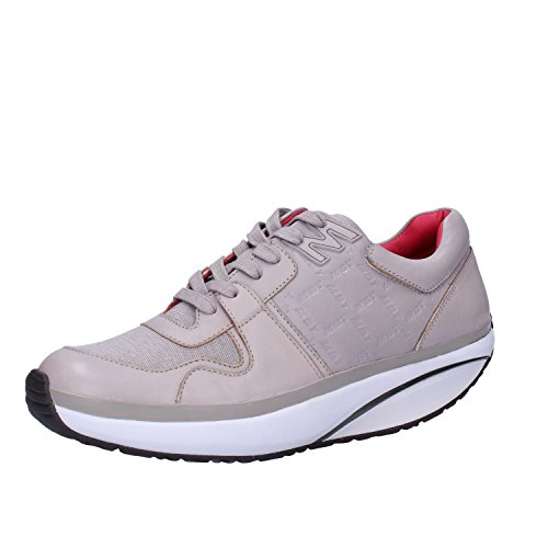 MBT Sneakers Donna 37 EU Grigio Pelle Tessuto