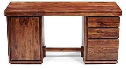 Fashionable And Stylish Executive Table Teakwood Warm White