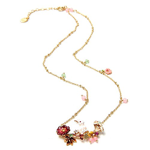Ladies Exquisite Cloisonné Handmade Enamel Easter Bunny Necklace for Women, Vintage Real Gold, Multi Stones, Real Value for Money