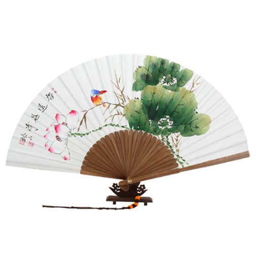 Korean decorative folding fans that you can buy from Amazon