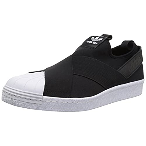 adidas Originals Women\u0027s Shoes | Superstar Slip on W Sneaker, Black/Black/White,  (8 Medium US)