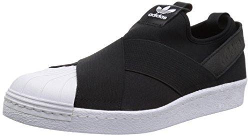 adidas Originals Women's Shoes | Superstar Slip On W Sneaker, Black/Black/White, (11 Medium US) by adidas Originals