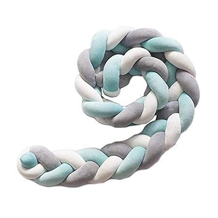1PCS Tour de lit coussin Serpent Coussin Tressé pare-chocs Velours Protection bébé sécurité (violet) MARGUERAS
