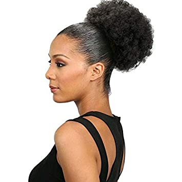 Amazon Synthetic Curly Hair Ponytail African American Short