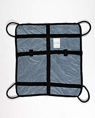 "4 Handled Patient Repositioning, Lifting & Transfer Aid : Portable Evacuation Transport Unit : Emergency EMS Rescue Stretcher : Medical Turner & Handling Gurney : 600lb Capacity 35""W x 39""L"