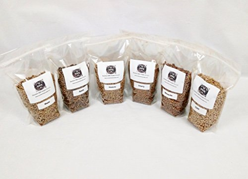 6 pack bbq wood pellets Apple, Hickory, Oak, Mesquite, Cherry and Maple Flavors by Southern BBQ Supply Co LLC