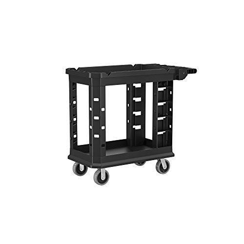 Suncast Commercial PUCSD1937 Utility Cart, Heavy Duty, 500 Pounds Load Capacity, black ()
