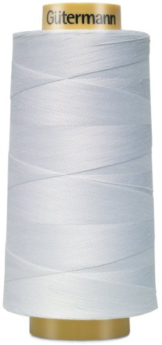 - Gutermann 3000C-5709 Natural Cotton Thread Solids, 3281-Yard, White