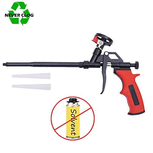 DAFEIKE Foam Insulation Gun Needn't Cleaner, Updated Teflon Pro Foam Dispensing Gun, PU Foam Spray Applicator, Hand Caulking Tool