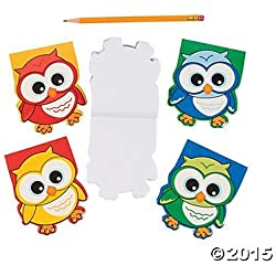 Owl-Shaped Notepads - 24 ct