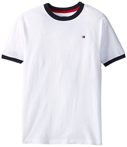 Tommy Hilfiger Boys 8-20 Ken Ringer Tee, Classic White, Medium