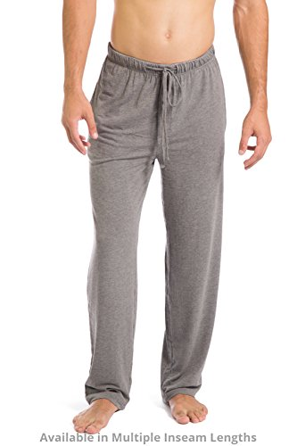 Mens Cotton Jersey Short (Fishers Finery Men's Ecofabric Jersey Pajama Pant; Pockets; Casual Pant (Lt Hthr Gry, L))