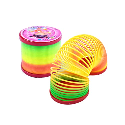stic Magic Slinky Rainbow Spring Funny Classic Toy Mini Slinky Smiley Face Springs Kids Toy Pinata Party Gifts ()