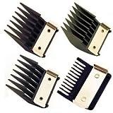 WAHL Professional Metal Clip Attachment Combs Set Black (Model:3160)