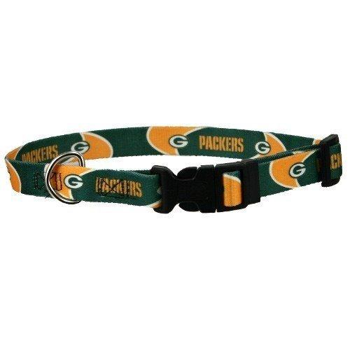 NFL Green Bay Packers Football Dog Collar X-Large 1″ Green, My Pet Supplies