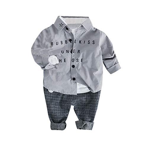 24329ca1de896 洋子ちゃん 女の子 男の子 漫画 長袖 子供用 長袖 紳士 プリントトップシャツ+ロングパンツ