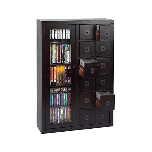 Library Cd Storage - Leslie Dame Library Media Storage Unit - Dark Oak