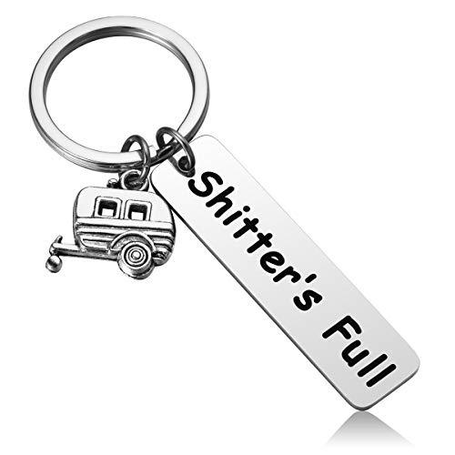 MIXJOY Shitter's Full Camper Keychain Redneck Keychain Hillbilly Keychain RV Keychain ()