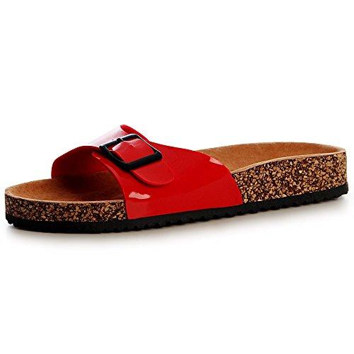 topschuhe24 Sandales topschuhe24 Sandalettes Rouge Femmes Femmes Sandales Sandalettes 5Up88q