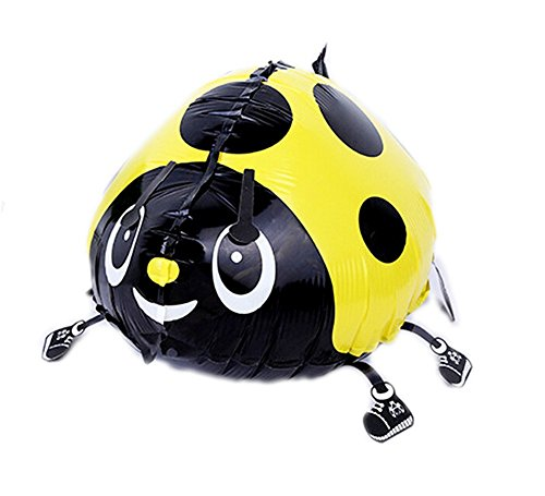 MY BALLOON STORE WALKING ANIMAL PET AIR WALKER HELIUM BALLOON PARTY DECOR FUN (LADYBUG YELLOW)]()