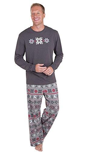 BiggerStore Family Matching Christmas Pajamas Set Kids Adult PJS Xmas Sleepwear Nightwear (Dad Only, L)