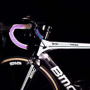 CXWXC Cinta reflectante para manillar de bicicleta, con tapones ...