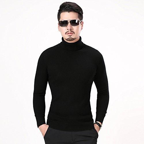Jdfosvm männer - Hemd und Pullover Kragen ärmel Kopf männlichen langärmelige Pullover schlanke männer Mode,schwarz,XXL