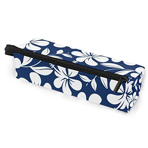 Hawaiian Flower Hibiscus Aloha Sunglasses Soft Case Zipper Eyeglass Case Storage Stationery Box