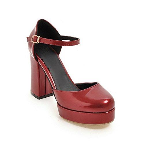 BalaMasa BalaMasa Red Sandales Femme Sandales Compensées SBTczTdq8