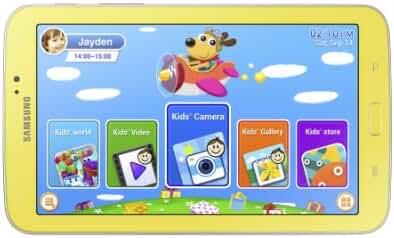 Samsung Galaxy Tab 3 Kids Edition (7-Inch with Orange Bumper Case)
