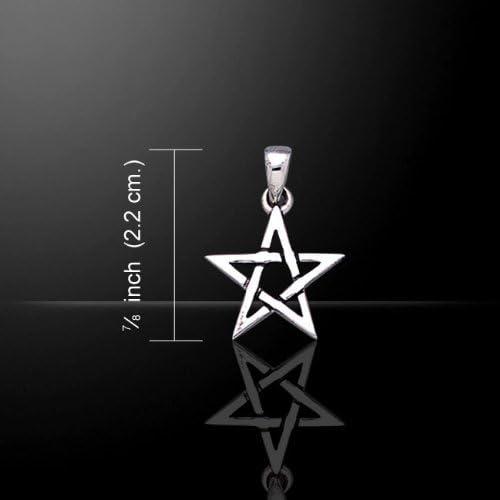 【PETER STONE】五芒星(ペンタグラム) スターリングシルバー ペンダントトップ 小