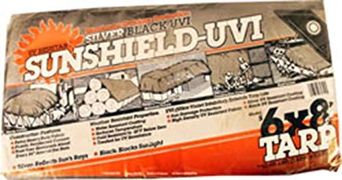- DeWitt 555918 6 Oz Uv Resistant Sunshield Tarp, 6' X 8', Silver/Black