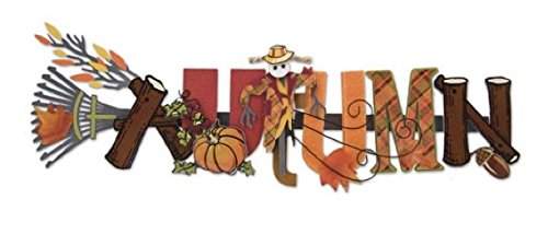 Autumn Stacked Statement 3-D Title Sticker