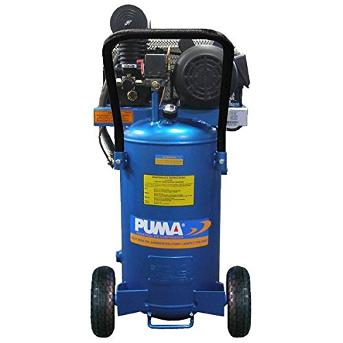 Puma Industries PK2011VP Air Compressor, Professional/Commercial Single Stage Belt Drive Series, 1 hp Running, 135 Maximum psi, 115/1V/Phase, 11 gal, 116 lb.