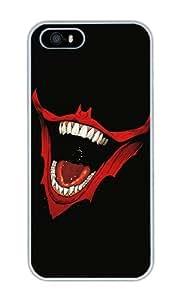 Jiu Yi Minimalist Joker Mouth Personalized Custom Crystal Clear Enamel Hard Back Shell Case Cover Skin for iPhone 4/4S by runtopwell