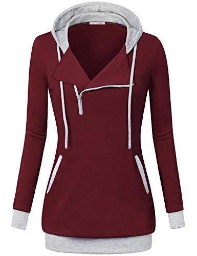 Zipper Long Sleeve Sweatshirts - 4