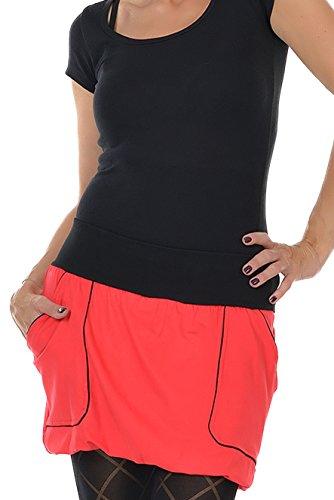Falda globo Minifalda verano de 3Elfen, mujer Rojo