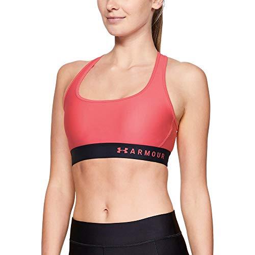 Under Armour Women's Armour Mid Crossback Sports Bra, Watermelon (677)/Watermelon, XX-Large
