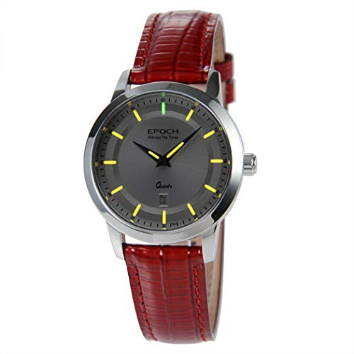 EPOCH 6023L 50m Water Resistant T25 Tritium Luminous Vogue Business Dress Lady Women Quartz Watch Wristwatch (P3)