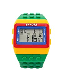 BLACK MAMUT Reloj SHHORS Digital Unisex Bloque de múltiples funciones. Carátula color Rojo con Amarillo y un extensible de caucho de diferentes colores.