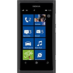 "Nokia Lumia 800 Unlocked GSM Phone with Windows 7.5 OS, 3.7"" AMOLED Multi-Touchscreen, 8MP Camera with Carl Zeiss Optics, Video, GPS, Wi-Fi, Bluetooth and FM Radio - Black"
