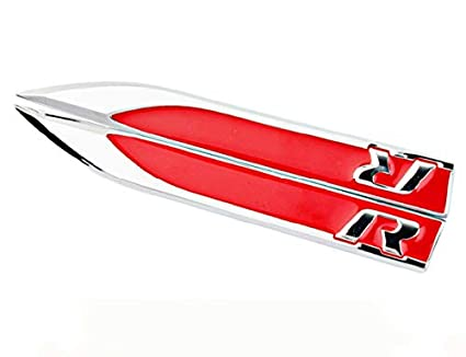 Amazon Com Maple Leave R Logo Chrome Stickers Motion Blade Side