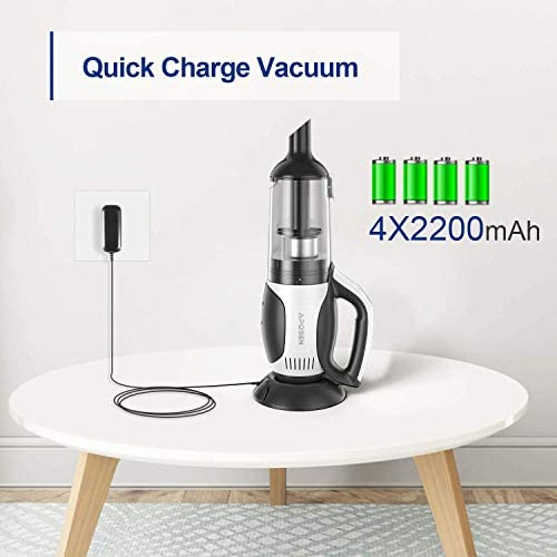 APOSEN Cordless Vacuum Cleaner, 4 in 1 Stick Handheld Vacuum Cleaner, 14Kpa Strong Suction, Cyclone HEPA Filtration, Quiet, Lightweight, Multi-Attachments for Home Car Pet Hair Hard Floors - H20-4P