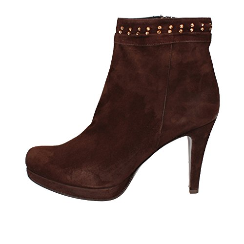 CALPIERRE Suede Woman 7 AD569 UK EU Boots 40 Ankle Brown FSqFxCfZw