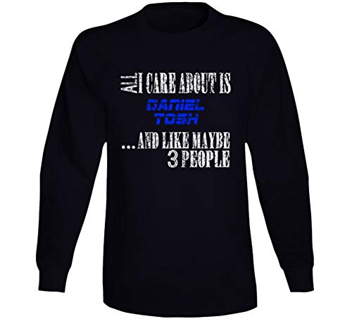 All I Care About is Daniel Tosh Comedian Comedy Worn Look Cool Fan Long Sleeve T Shirt L Black