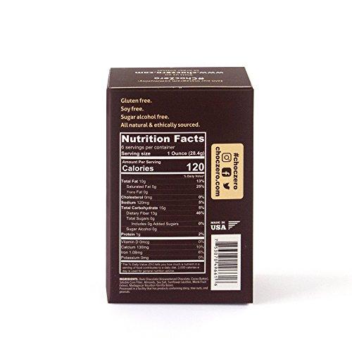 ChocZero's Keto Bark, Dark Chocolate Almonds with Sea Salt. 100% Stone-Ground, Sugar Free, Low Carb. No Sugar Alcohols, No Artificial Sweeteners, All Natural, Non-GMO (2 boxes, 6 bars/each)